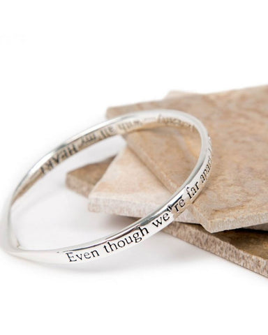 Far Apart Message Bangle
