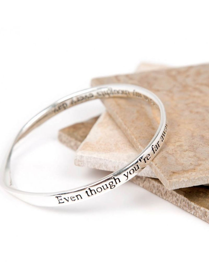 Far Away Message Bangle