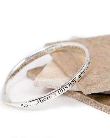 Mummy Boy Message Bangle