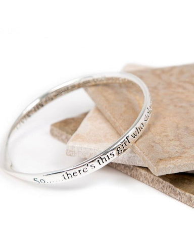 Mummy Girl Message Bangle
