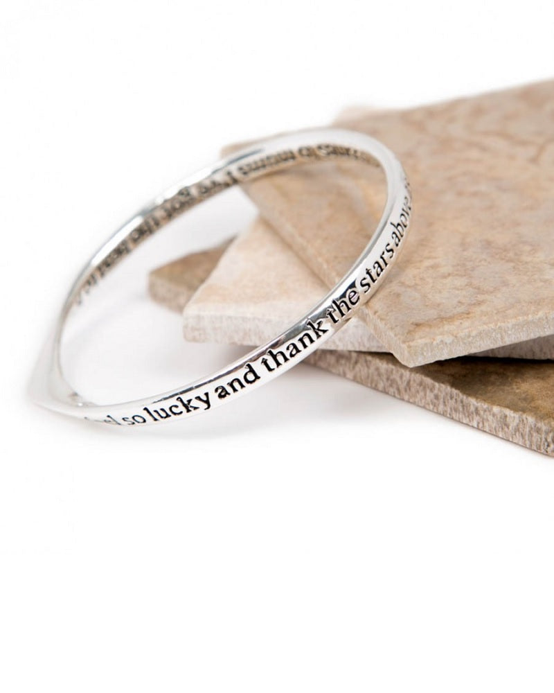 Mum Stars Above Message Bangle