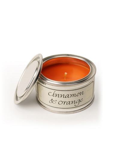 Cinnamon and Orange Filled Tin Candle