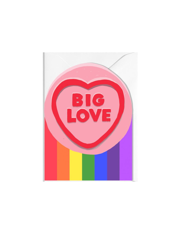 Big Love Cut Outs Greeting Card
