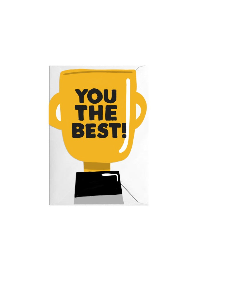 You The Best Cut Outs Greeting Card