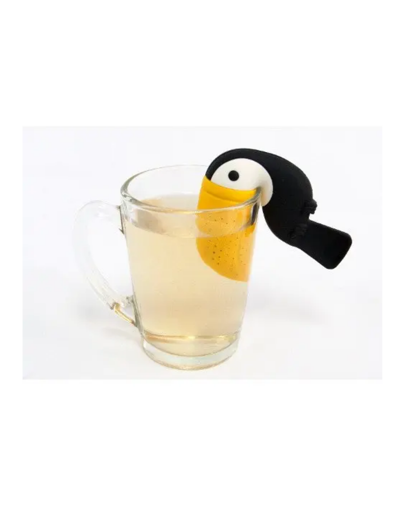 Toucan Bird Tea Infuser Silicone Mesh Tea Strainer