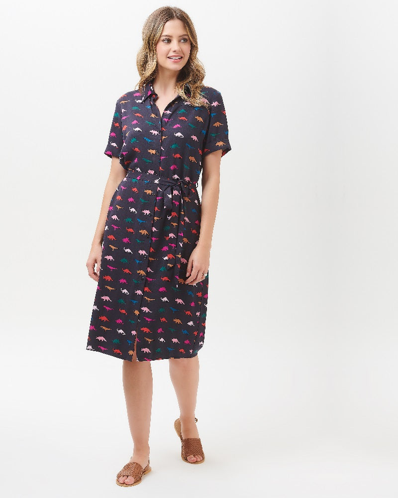 Justine Jurassica Jive Shirt Dress