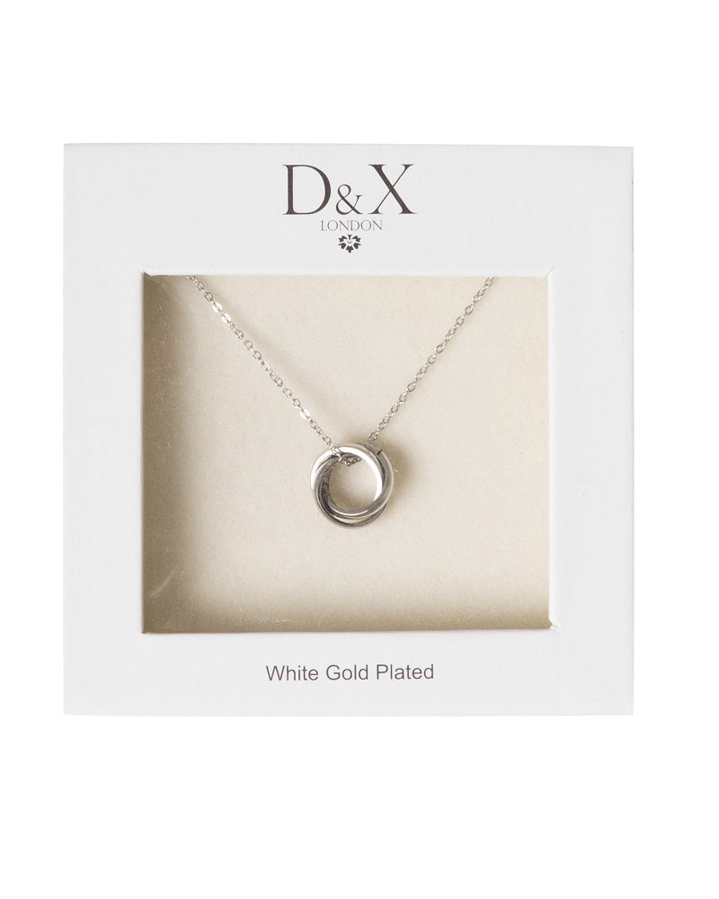 Silver Rings Gift Boxed Necklace