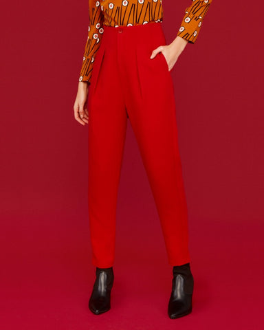Eri Trousers Red Minueto