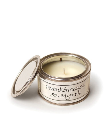 Frankincense and Myrrh Filled Tin Candle