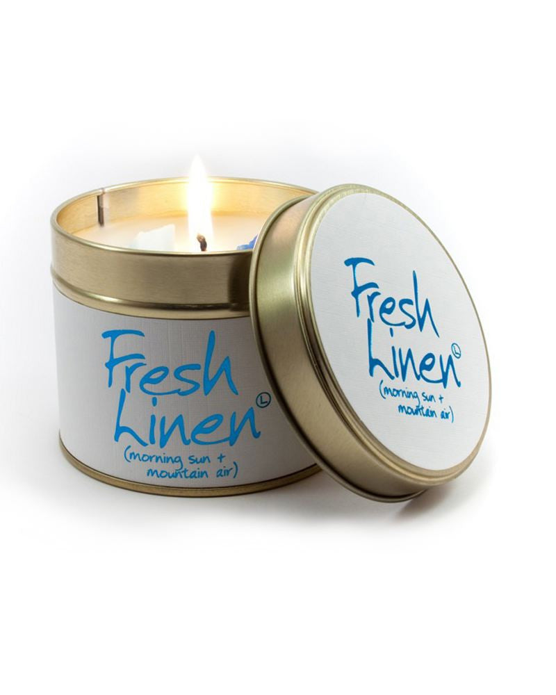 Fresh Linen Tin Scented Candle