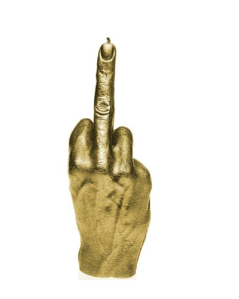 F*ck You Finger Hand Gesture Sculpted Candle
