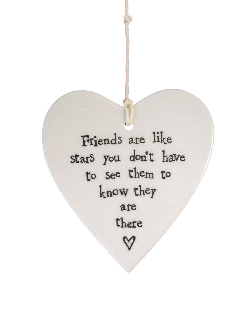 Friends Are Like Stars ... Hanging Heart Decoration
