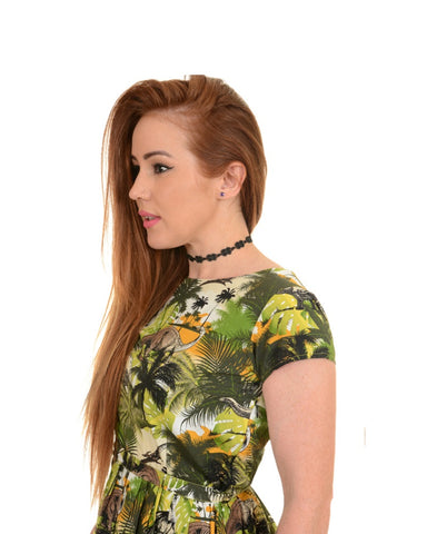 Dinosaur Jungle Tea Dress