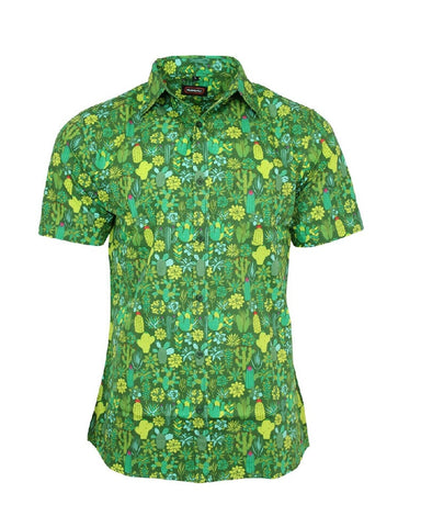 Cactus Mens Short Sleeve Shirt Unisex