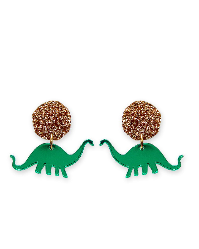 Jurassica Apatosaurus Dinosaur Earrings