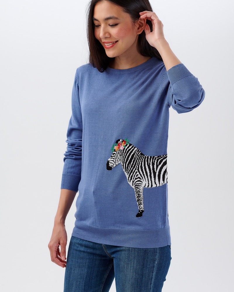 Zebra Fiesta Rita Jumper By Sugarhill Boutique