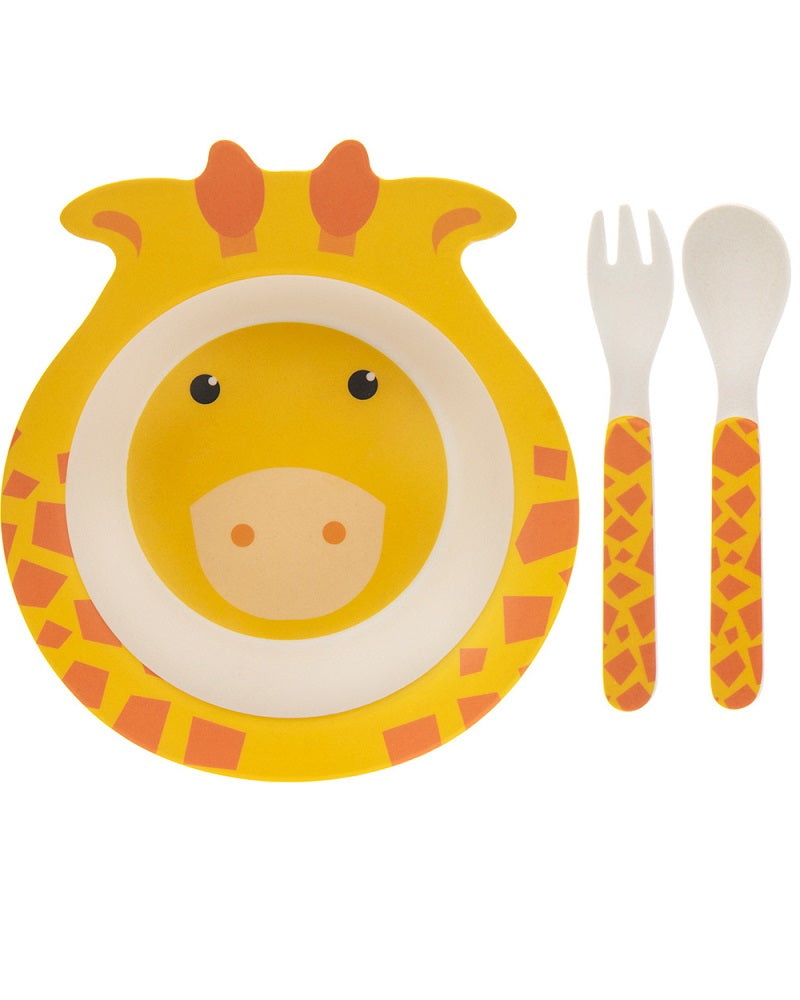 Giraffe Bamboo Eco Eating Set
