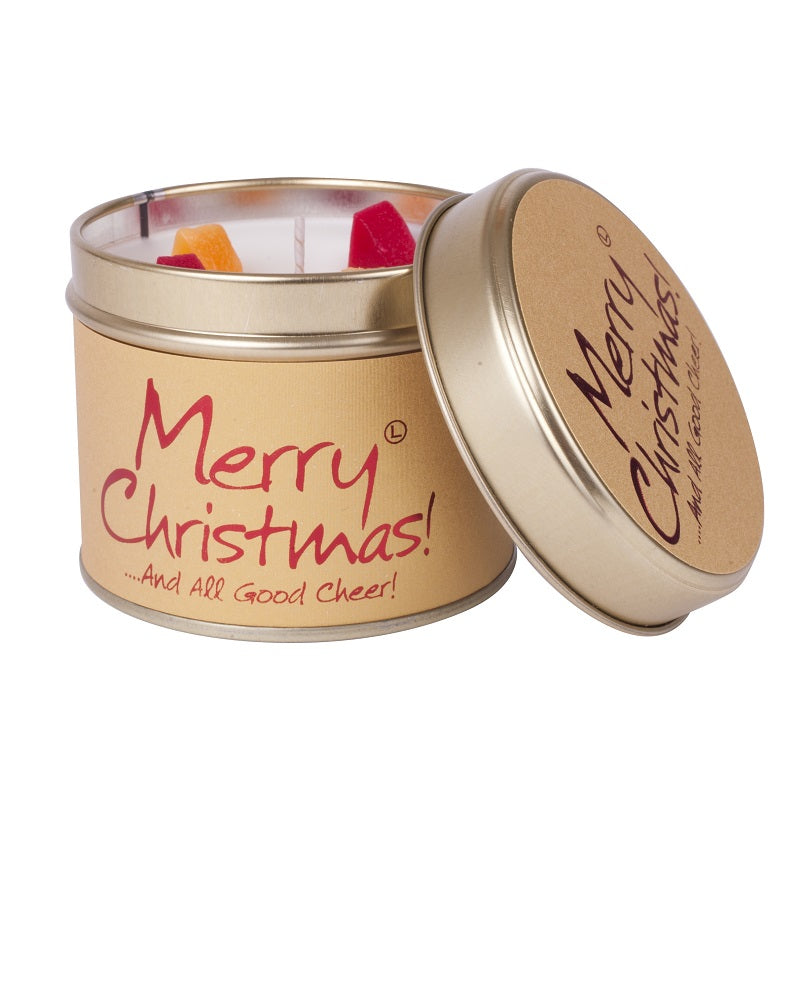 Merry Christmas Tin Scented Candle