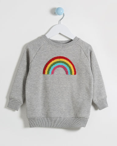 Billie Mini Me Boucle Rainbow Sweatshirt