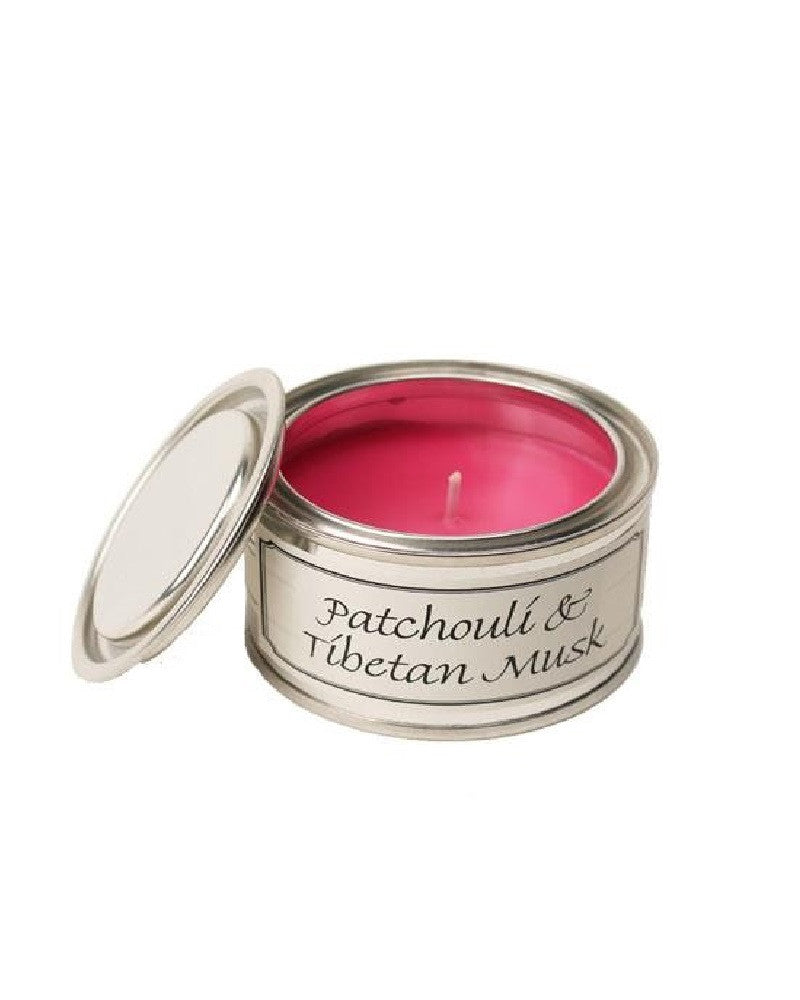 Patchouli and Tibetan Musk Filled Tin Candle