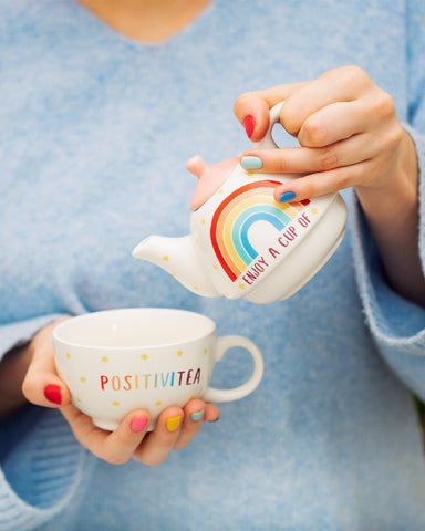Rainbow Postivitea Tea Pot For One