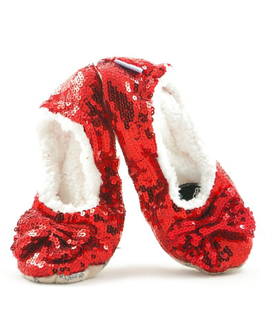 Snoozies Slippers Red