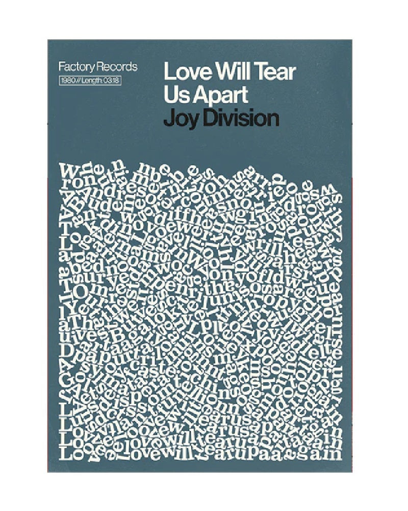 Joy Division Love Will Tear Us Apart A3 Art Print