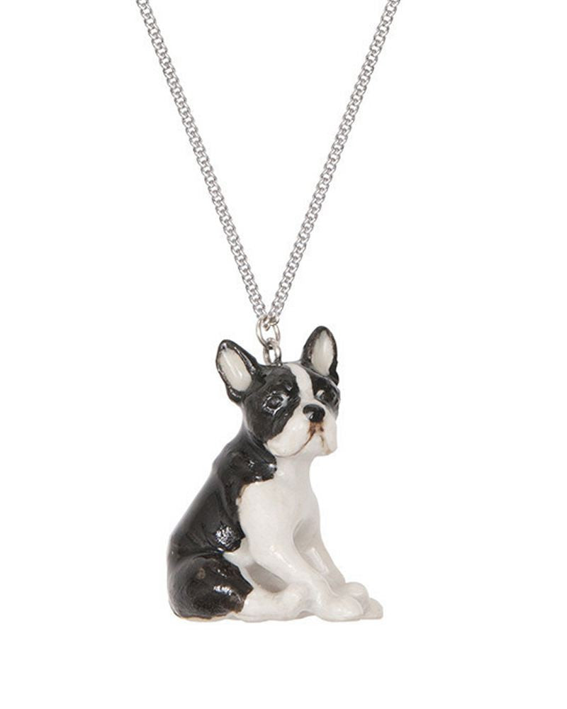 Sitting Boston Terrier Necklace
