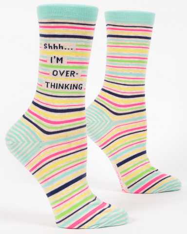 SShhhh I'm Over Thinking Ladies Crew Socks