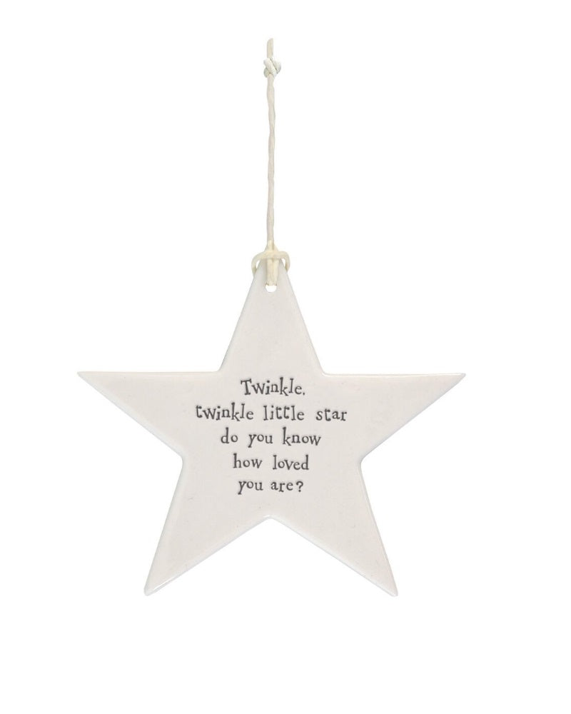 Twinkle Twinkle  ... Hanging Star Decoration