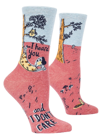 I Heard You Ladies Crew Socks