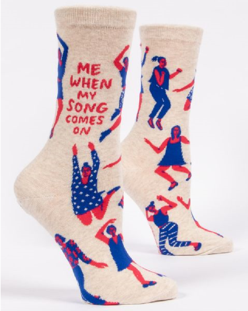 Me When My Song Comes On Ladies Crew Socks