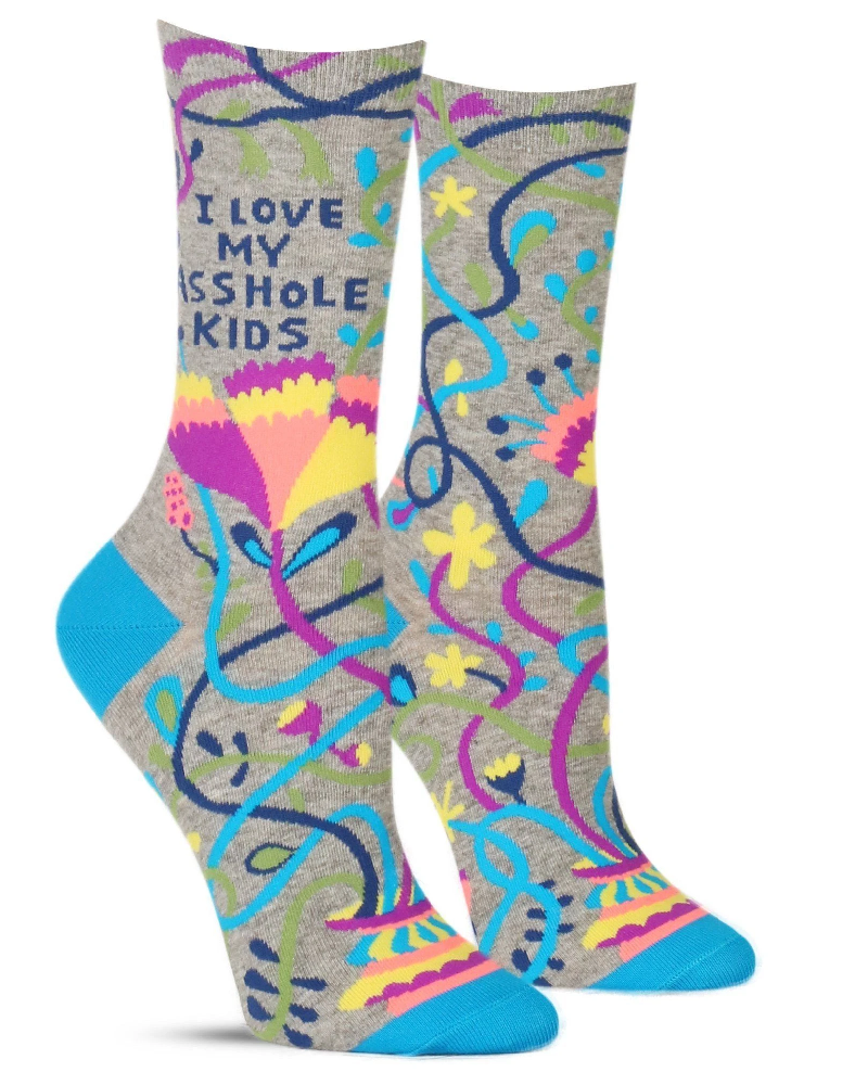I Love My Asshole Kids Ladies Crew Socks