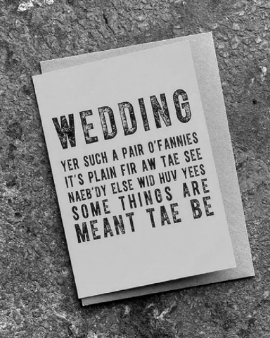 Wedding Poetry Card