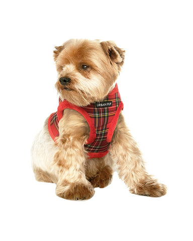 Dog Harness Luxury Fur Lined Tartan