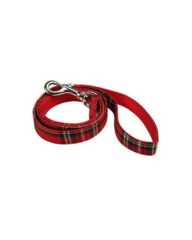 Dog Lead Red Tartan