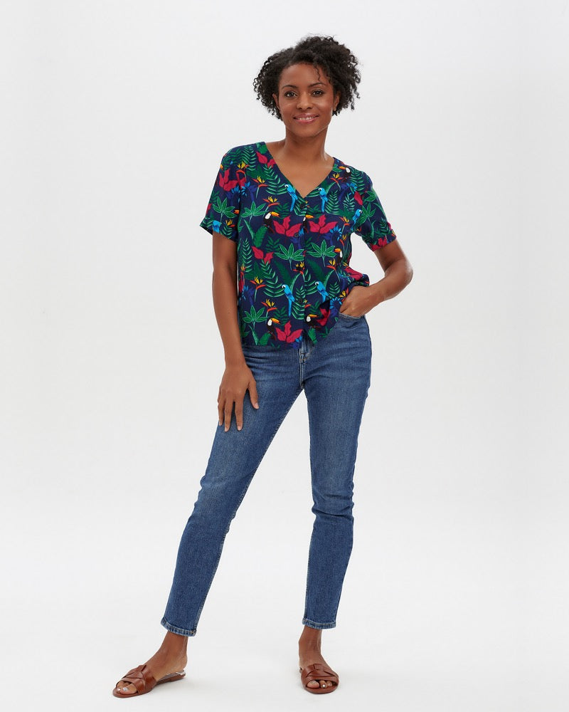 Birds Of Paradise Hatty Shirt By Sugarhill Boutique
