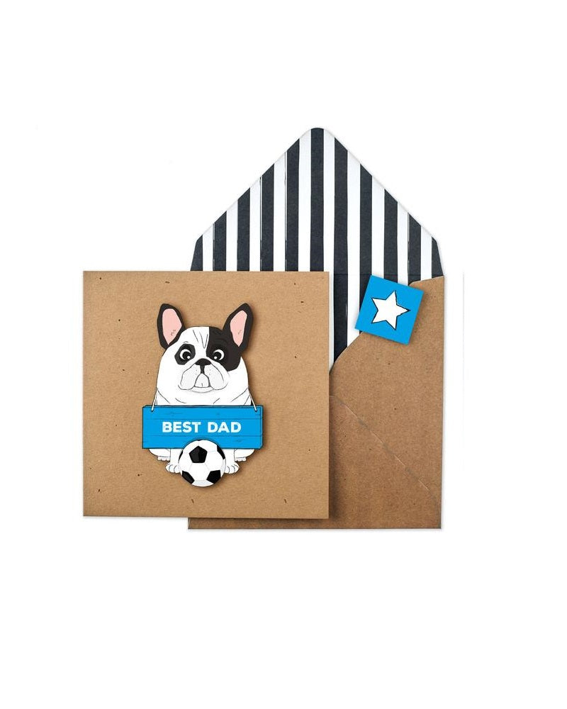 No.1 Dad Frenchie Card