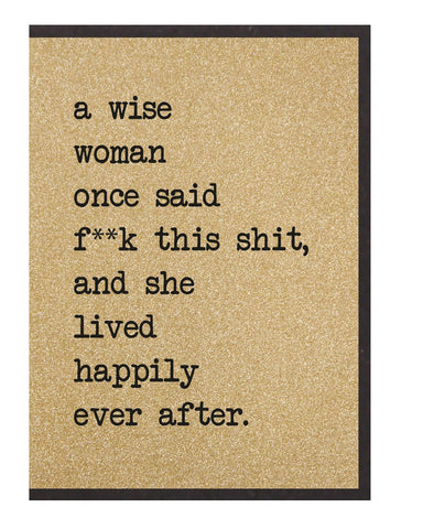 Wise Woman Greetings Card