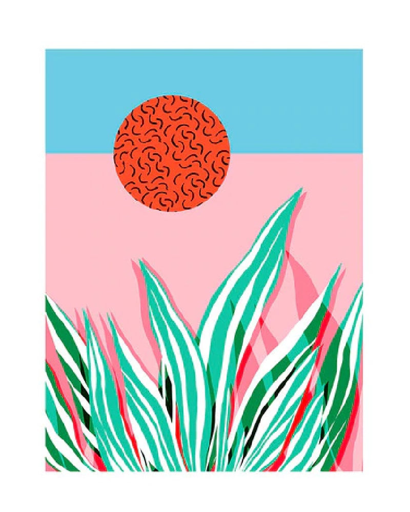 Wacka Freakin Tropical Art Print