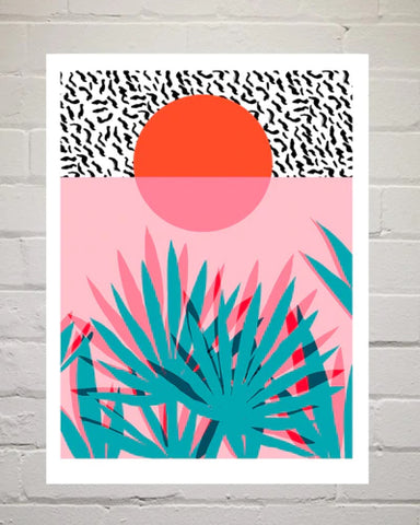Wacka Whoa Tropical Art Print