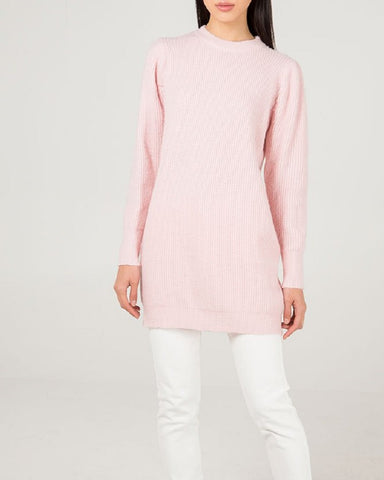 Long Knitted Jumper In Assorted Pastels