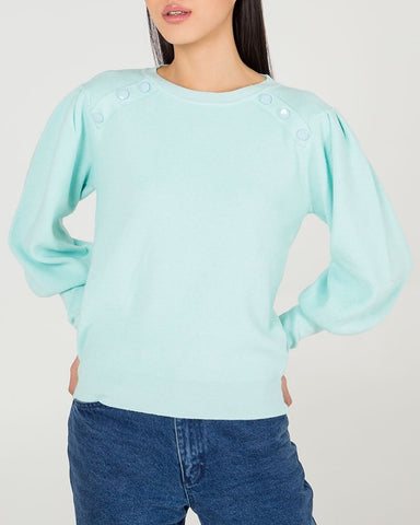 Puff Sleeve Jumper In Assorted Colours
