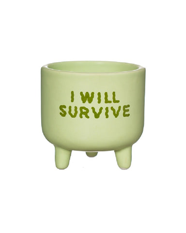 I Will Survive Mini Planter