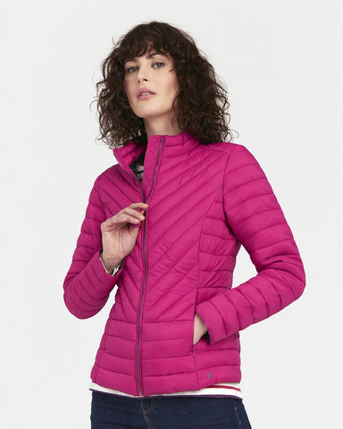 Elodie Fuschia Quilted Jacket By Joules