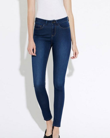 Asa Mid Rise Skinny Denim Royal Blue