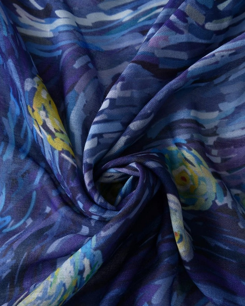 Vincent Van Gogh Starry Night Painting Scarf