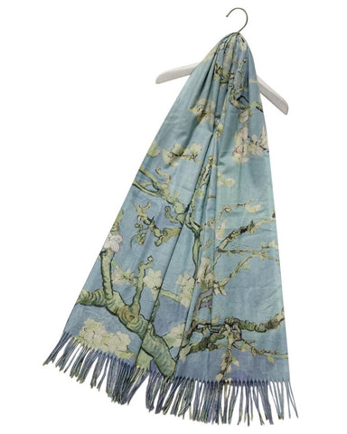 Vincent Van Gogh Almond Blossom Artist Painting Scarf
