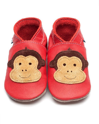 Cheeky Monkey Soft Leather Baby Shoes