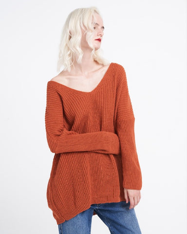 Cinnamon Knitted Longline Jumper